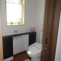 タイル床簡易水洗トイレから水洗トイレへ
